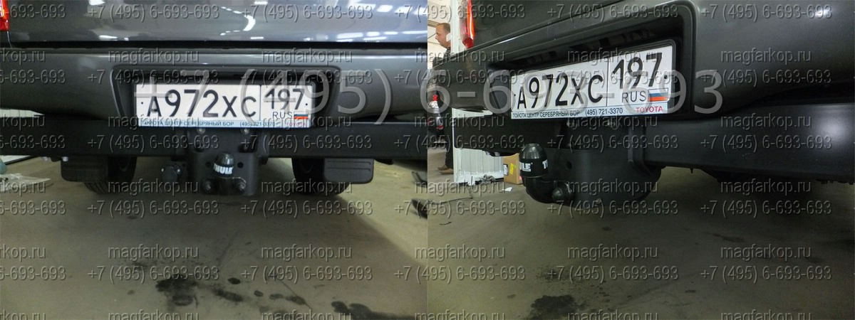 Фаркоп Toyota Hilux модель с локерами 10-твердое крепление.  522100 THULE (Голландия) .