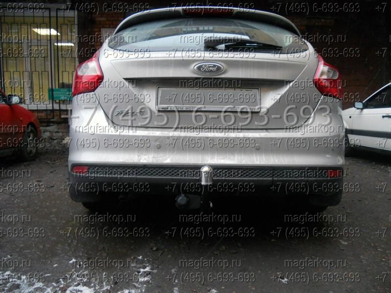 Фаркоп (ТСУ) для Ford Focus III HB 2011.  Порошоковое покрытие.  Bosal-VFM (Россия, Бельгия).