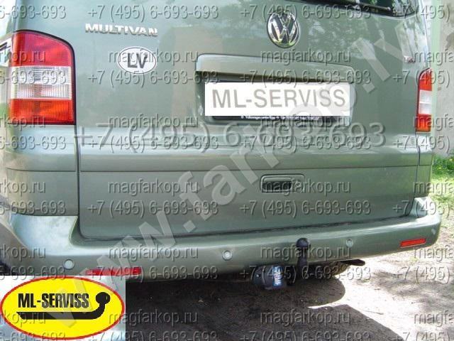 Фаркоп Volkswagen T5 Transporter / Multivan 01.2003- снятие бампера.