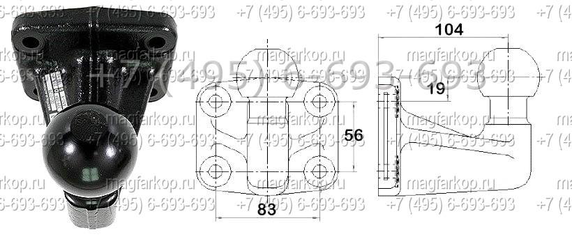 Фаркоп Citroen Jumper3 / Fiat Ducato4 / Peugeot Boxer3 2006- PickUP тип F BOSAL 034-962 - фото 3